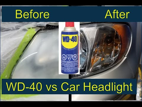 How to Clean HeadLights of Car using WD-40