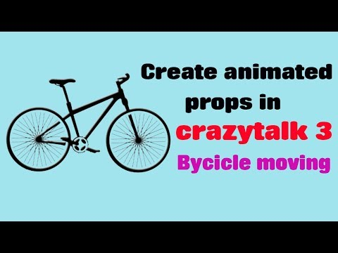 Create animated props in crazytalk Animation 3|Bycicle moving