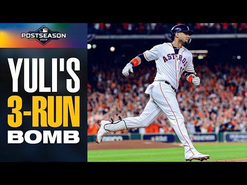 Xxx Mp4 Yuli Gurriel Launches HUGE 3 Run Home Run To Put Astros Ahead Early In ALCS Game 6 Vs Yankees 3gp Sex