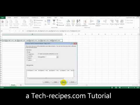 Microsoft Excel Splitting One Cell Row into Multiple Rows