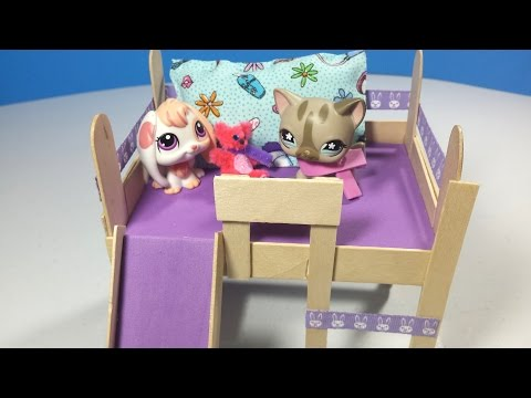 How to Make an LPS Loft Bed with Optional Slide & Desk: Doll DIY