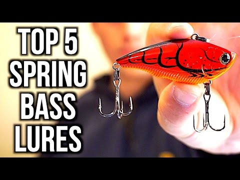 TOP 5 SPRING BASS FISHING LURES - Bass Fishing Tips