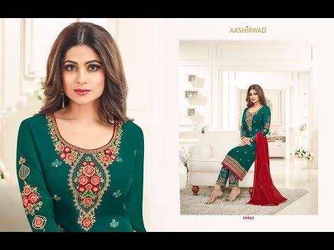 Latest Indian Dresses Collections 2017    Shamita Shetty Salwar kameez    AASHIRWAD CREATION SAMIRA