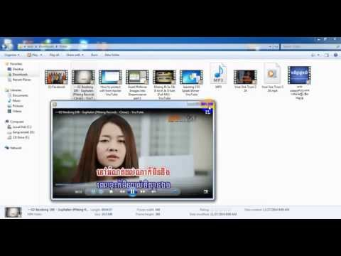 how to convert video mp4 to mp3 or music speak khmer easy