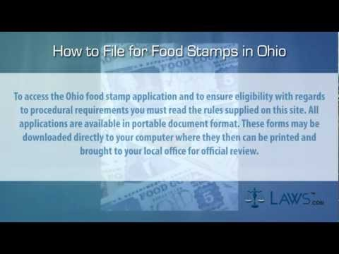 How to File for Food Stamps Ohio