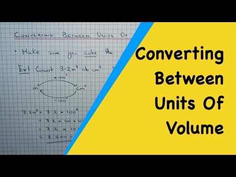 Examples On Metric Volume Conversions (for example metres cubed to centimetres cubed)