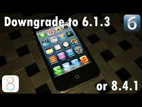 HOW TO DOWNGRADE iPhone 4s FROM 9.3.5 TO 6.1.3 OR 8.4.1 (WINDOWS)