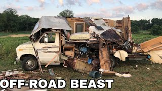 Giant Big Block RV gets DEMOLISHED off-roading