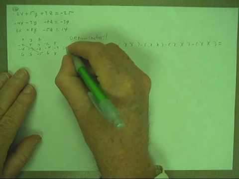 cramers rule 3x4 p165#10 Part 1