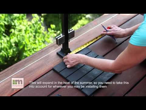 How To Install Deck Tile