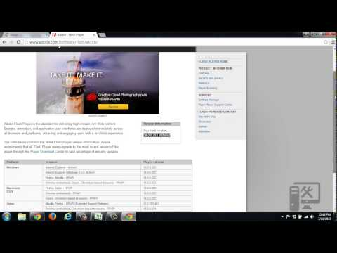 Update adobe flash player for google chrome web browser