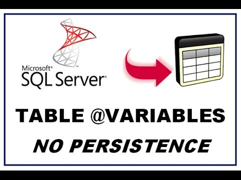 SQL Server Table Variables - No Persistence