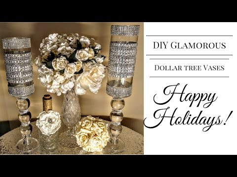 DIY| Glamorous Dollar Tree Vases💎| Wedding Centerpieces| DIY Glam Decor
