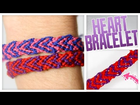 DIY Threaded Heart Bracelet! - Do It, Gurl