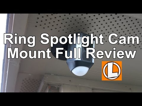 Ring Spotlight Cam Mount Review - Unboxing, Setup, Installation, Settings, Video Footage