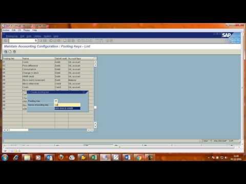 Create/Define Posting Keys in SAP FI module.