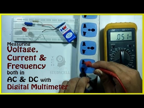 How to Use a Multimeter for Beginners - How to Measure Voltage, Current & Frequency with multimeter