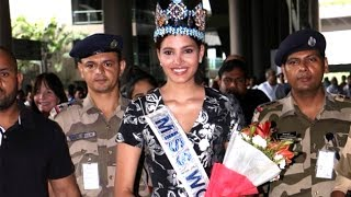 Miss World Stephanie Del Valle Arrives In India | Bollywood Buzz