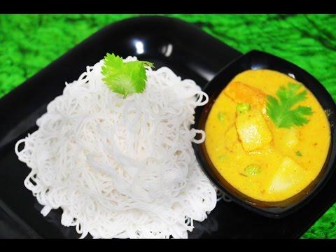 Idiyappam & Salna gravy – Traditional style