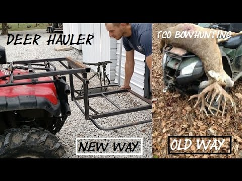 Fabricated deer hauler for ATV new addition for TCO Bowhunting how to get deer out of woods