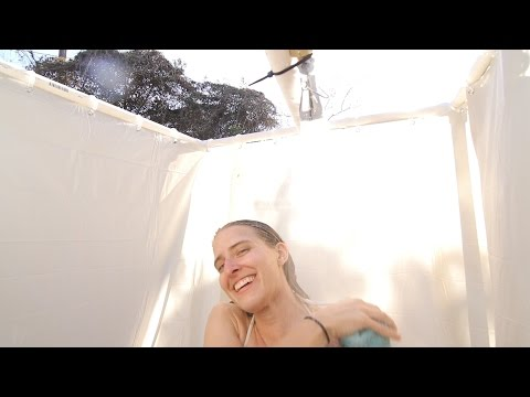 Build your own portable outdoor shower!  The Longest Straw way!