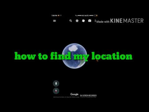 How to get location on Google earth