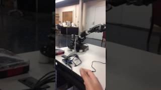 Controlling robot through gesture