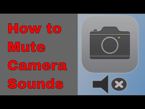 how to mute camera sound in iphone | ipad | ios device quick and easy