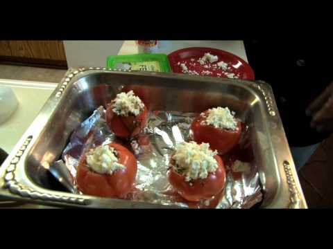 How to Make Balsamic Tomatoes Stuffed with Feta Cheese
