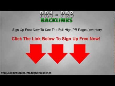 High PR Low OBL Backlinks - Get PR4 - PR8 Backlinks With Low OBL