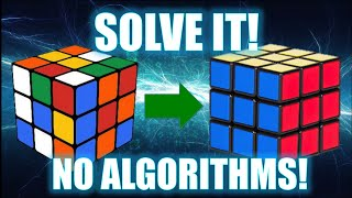 How To Solve A 3x3 Rubik S Cube No Algorithms