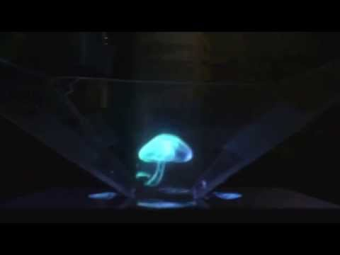 Hologram with iPhone 5 and CD cover