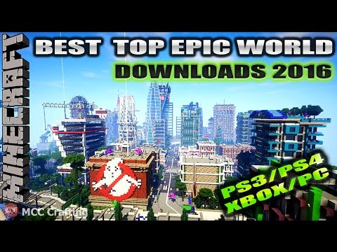 Minecraft MCCCrafting Best Top Epic Most Downloaded  PS3/PS4/XBOX/PC World Map Downloads 2016