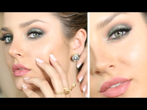 Elegant Emerald Holiday Makeup for Green/Brown/Hazel Eyes