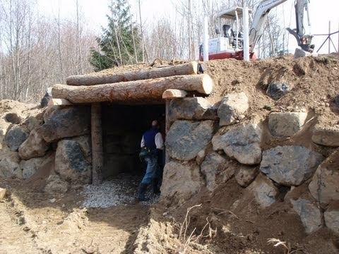 sepp holzer root cellar / underground animal shelter