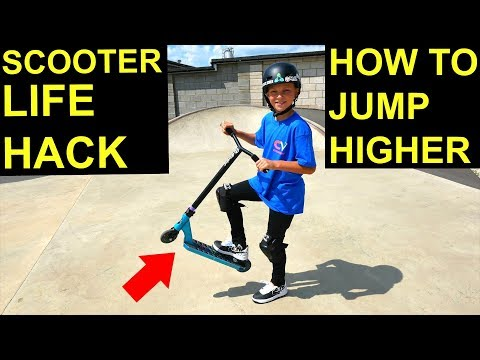 HOW TO JUMP HIGHER ON A SCOOTER! *SCOOTER HACK*