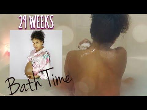 29 Weeks Pregnant BATH TIME Talk