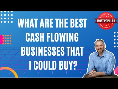 What are the best cash flowing businesses that I could buy? How to Buy a Business - David C Barnett