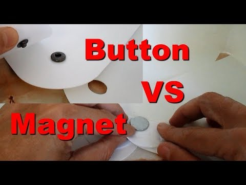 What different between Magnet and Snaps Button Design Photo Studio Photography Light Box