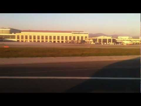 Ryanair Take off from malaga spain airport to paris february 12th 2012
