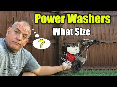 What Size Pressure Washer to Buy - PSI vs. GPM