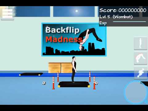 How to do a standing double backflip in Backflip Madness