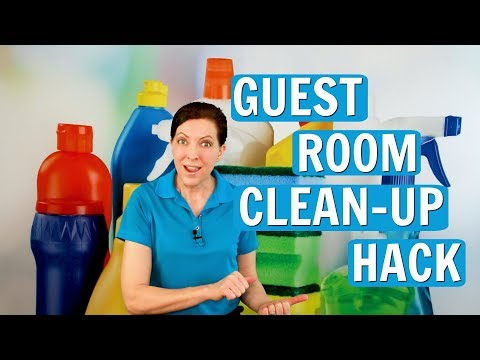 Guest Room Clean-Up Hack (House Cleaning for Homes and Airbnb)