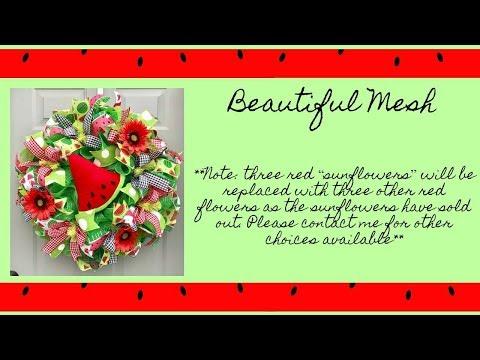 2018 Watermelon Wreath by Beautiful Mesh