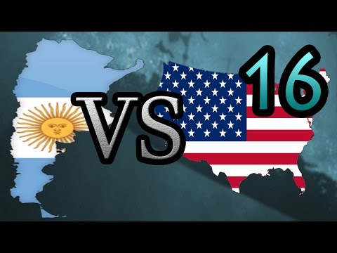 Argentina vs USA [16] Hearts of Iron IV HOI4
