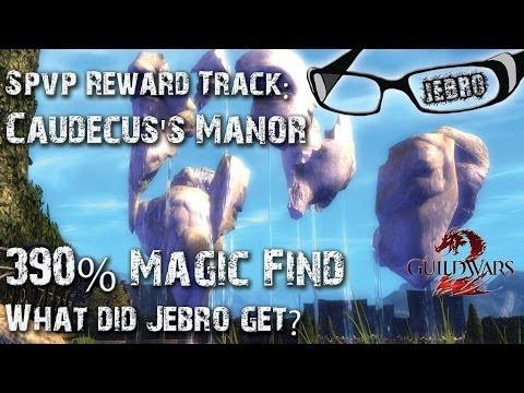 GW2 Caudecus's Manor CM SPVP Reward Track and chest opening! Jebro SPVP