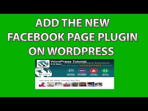 How to Add the New Facebook Page Plugin in WordPress - Facebook Like box on Wordpress 2017