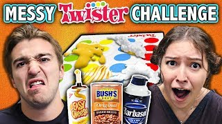 EXTREME MESSY TWISTER CHALLENGE! (ft. React Cast)   Challenge Chalice