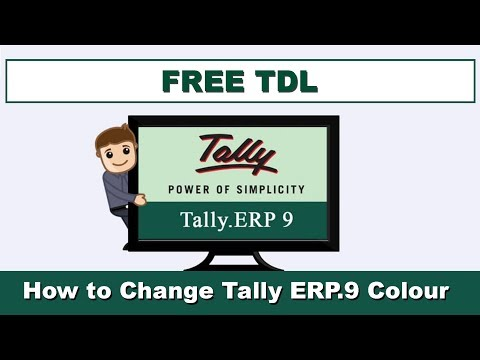 How to Change Tally ERP.9 Colour - Free TDL