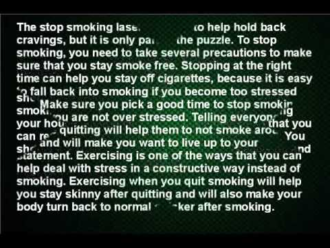 Stop Smoking Laser Therapy